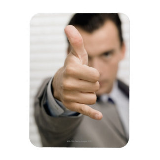 Portrait of a businessman making a thumbs up rectangular photo magnet