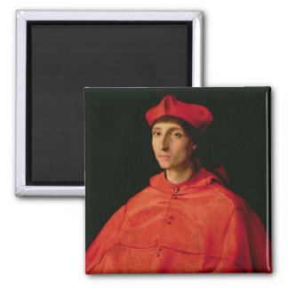 Portrait of a Cardinal 2 Inch Square Magnet