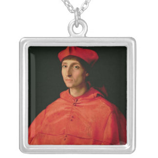 Portrait of a Cardinal Silver Plated Necklace