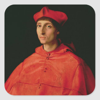 Portrait of a Cardinal Square Sticker