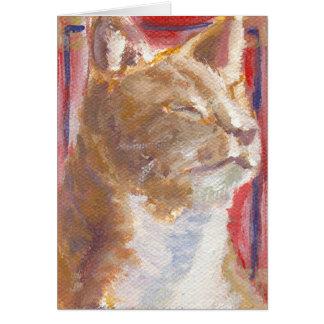 Portrait of a cat card