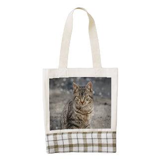 Portrait of a cat zazzle HEART tote bag