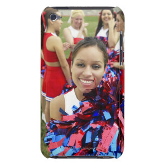 Portrait of a Cheerleader in Front of a Group of Barely There iPod Cases