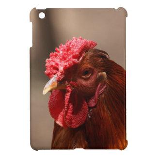 Portrait of a chicken on a farm. iPad mini cover