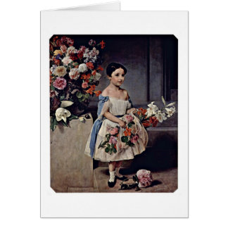 Portrait Of A Child By Francesco Hayez Greeting Cards