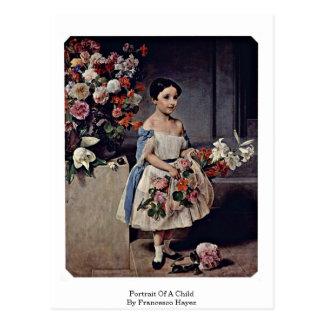 Portrait Of A Child By Francesco Hayez Postcard