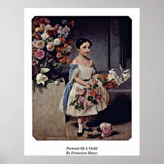 Portrait Of A Child By Francesco Hayez Poster