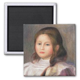 Portrait of a child, c.1910-12 2 inch square magnet