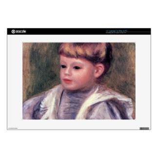 Portrait of a child (Philippe Gangnat) by Renoir Laptop Decals