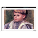 Portrait of a child (Philippe Gangnat) by Renoir Decals For Laptops