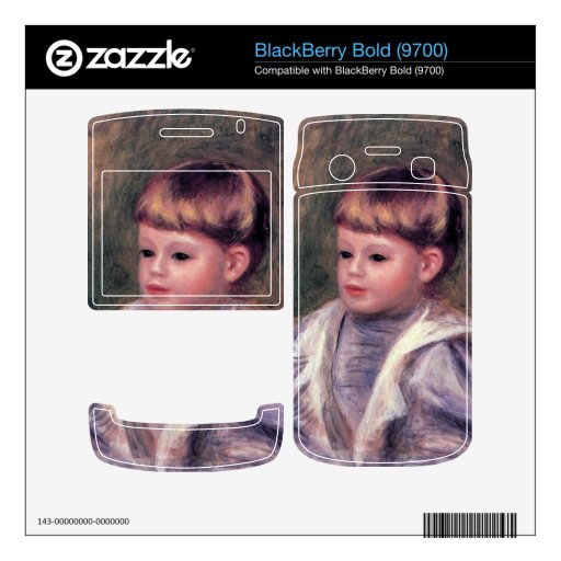 Portrait of a child (Philippe Gangnat) by Renoir BlackBerry Bold Decals