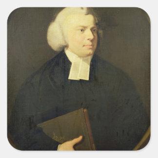 Portrait of a Clergyman Square Sticker