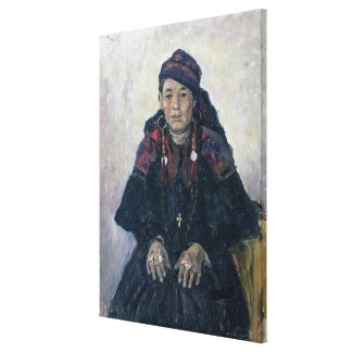 Portrait of a Cossack Woman 1909 Gallery Wrap Canvas