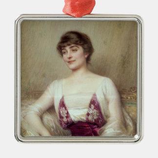 Portrait of a Countess Metal Ornament