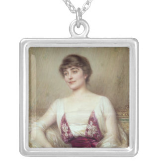 Portrait of a Countess Silver Plated Necklace