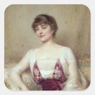 Portrait of a Countess Square Sticker