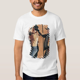 Portrait of a Cowboy and Cowgirl Arranging Reins T-Shirt
