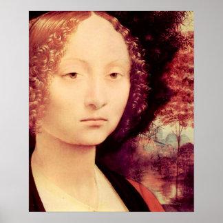 Portrait of a Dame  Detail by Da Vinci Posters