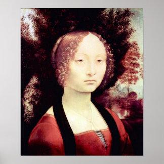 Portrait of a Dame (Ginevra Benci) by Da Vinci Posters