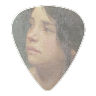 Portrait of a dark-haired girl, 1867 acetal guitar pick