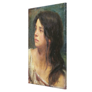 Portrait of a dark-haired girl, 1867 canvas print