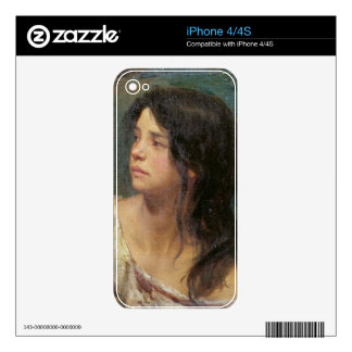 Portrait of a dark-haired girl, 1867 iPhone 4 skin