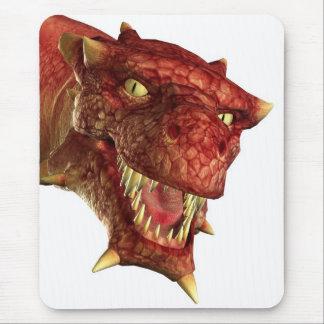 portrait of a dragon mouse pad