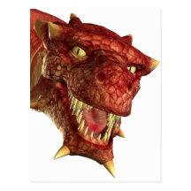 portrait of a dragon postcards