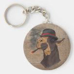 Portrait of a Drama Llama - Keychain