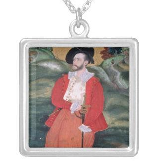 Portrait of a European sailor, c.1590 Silver Plated Necklace