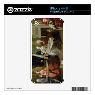 Portrait of a Family, 1730s (oil on canvas) Decal For iPhone 4