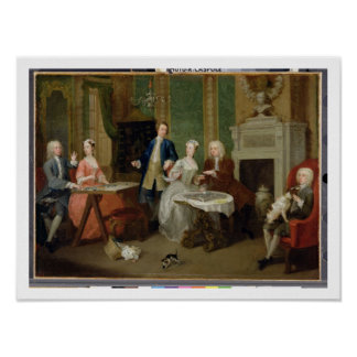 Portrait of a Family, 1730s (oil on canvas) Poster