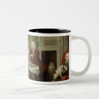 Portrait of a Family, 1730s (oil on canvas) Two-Tone Coffee Mug