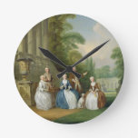 Portrait of a Family, 1740 (oil on canvas) Round Clocks