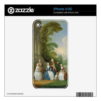 Portrait of a Family, 1740 (oil on canvas) Decal For The iPhone 4S