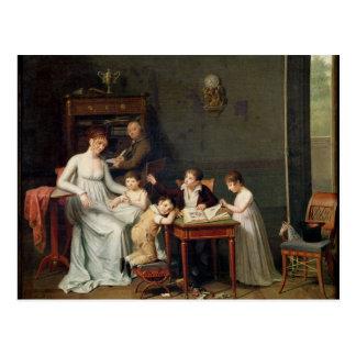 Portrait of a Family, 1800-01 Postcard