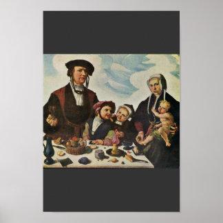 Portrait Of A Family By Heemskerck Marten Van (Bes Poster
