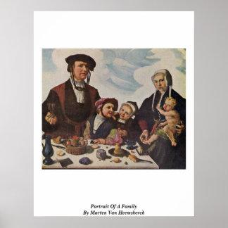Portrait Of A Family By Marten Van Heemskerck Print