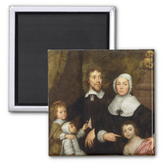 Portrait of a Family, Probably that of Richard Str 2 Inch Square Magnet