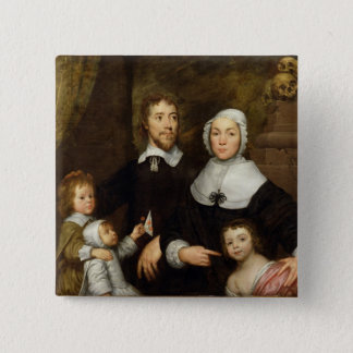 Portrait of a Family, Probably that of Richard Str Button
