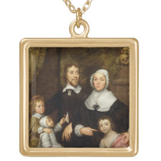 Portrait of a Family Probably that of Richard Str Necklaces