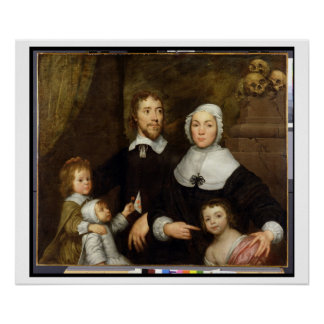 Portrait of a Family, Probably that of Richard Str Poster