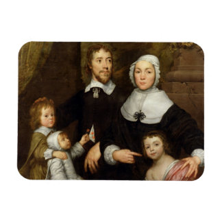 Portrait of a Family, Probably that of Richard Str Rectangular Photo Magnet