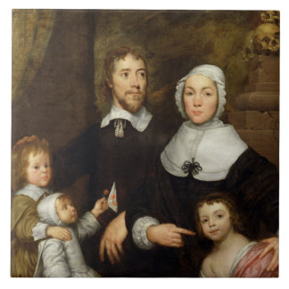 Portrait of a Family, Probably that of Richard Str Tile