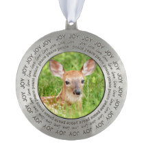 Portrait of a Fawn (white-tailed deer) Ornament