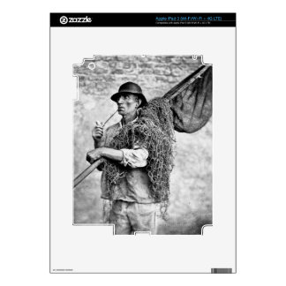 Portrait of a Fisherman Carrying his Nets (b/w pho iPad 3 Skin
