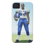 portrait of a football player holding a football iPhone 4 Case-Mate case