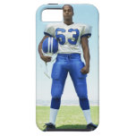 portrait of a football player holding a football iPhone SE/5/5s case