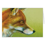Portrait of a fox everyday card
