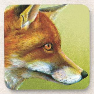 Portrait of a fox fine art set of 6 coasters